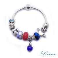 DINA JEWELRY蒂娜珠寶  幻藍寶石 潘朵拉風格 設計手鍊