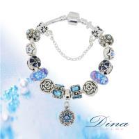 DINA JEWELRY蒂娜珠寶 藍色珊瑚海 潘朵拉風格 設計手鍊
