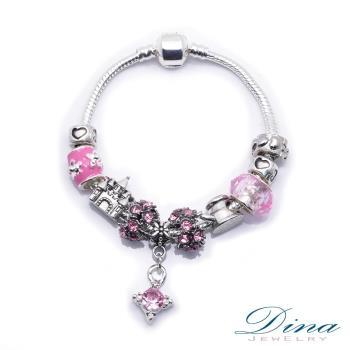 DINA JEWELRY蒂娜珠寶 粉紅童話 潘朵拉風格 設計手鍊