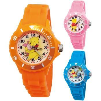 【迪士尼】中型運動彩帶轉圈兒童錶 - 暖暖小熊維尼 (三款可選)
