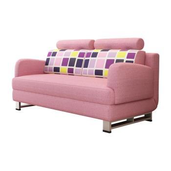 【AT HOME】粉紅公主雙人多功能沙發床