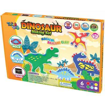 【 小康軒 Kids Crafts 】Think-Doh 矽膠黏土 - 侏儸紀小恐龍組