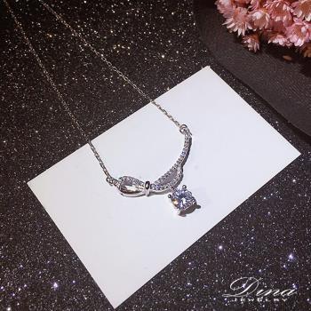 DINA JEWELRY蒂娜珠寶  搖滾樂 CZ鑽純銀鎖骨鍊 (MJ52256)