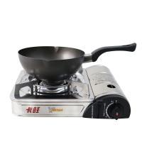 卡旺K1-1788S攜帶式卡式爐+【鵝頭牌】黑金剛雪平鍋(CI-2101)