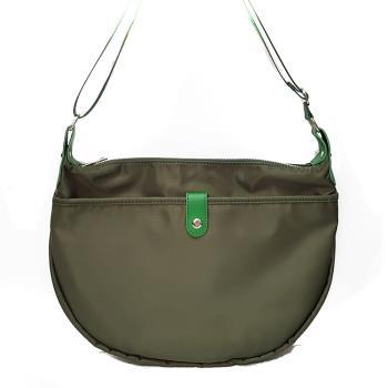 【M2nd】慢活時尚輕量牛皮防水布包(綠色)