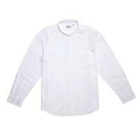 Timberland男款紗染白色 Gale River BD 長袖牛津襯衫(一般版型)
