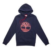 Timberland男款航海藍 Oyster River BB 大樹標誌連帽上衣A1LUBJ38