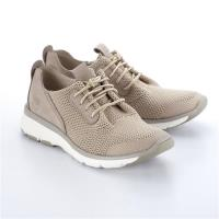 Timberland女款米色布面搭皮革款淺口鞋A1NPHK51