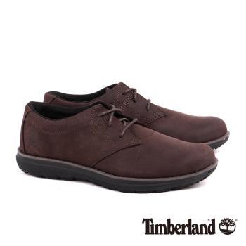 Timberland男款中咖啡色全粒面皮革EDGEMONT淺口鞋A14F4214