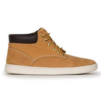 Timberland男款小麥黃正絨面皮革素面休閒鞋