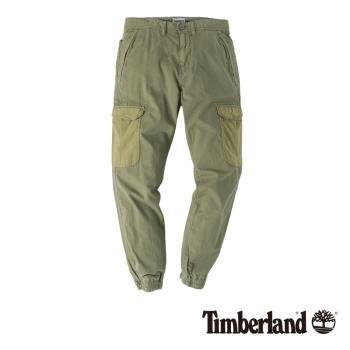 Timberland男款藻綠色Profile Lake 修身版工作風窄管褲