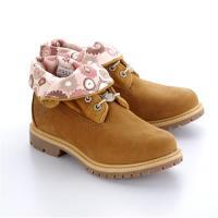 Timberland女款小麥黃正絨面皮革翻領靴A1N8U231