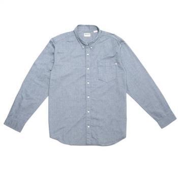 Timberland男款寶石藍 Gale River BD 長袖牛津襯衫(一般版型)