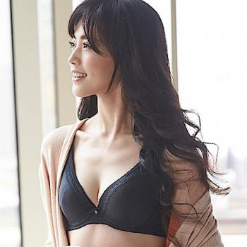 【蕾黛絲】挺素面V版型 D-E罩杯內衣(時尚黑)