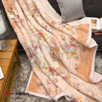 京都西川 復古珍藏印花毛毯-花香依戀 新合纖印花毯/厚毛毯 (180X210cm)