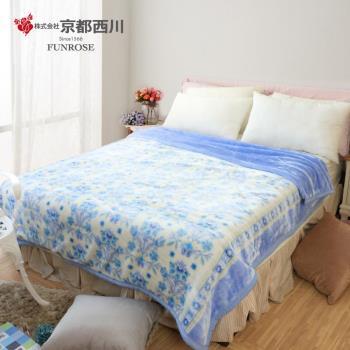 京都西川 復古珍藏印花毛毯-錦秀青花 新合纖印花毯/厚毛毯 (180X210cm)