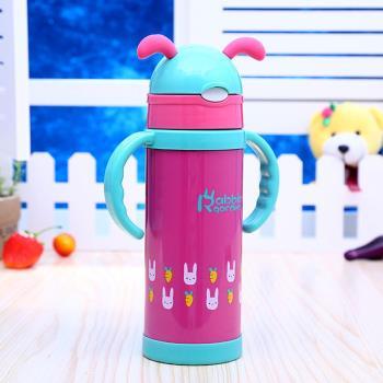 DF 童趣館 - 可愛動物系列304不鏽鋼吸管保溫杯-共4色