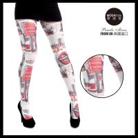 【摩達客】英國進口義大利製Pamela Mann  倫敦街頭紅 彈性褲襪絲襪