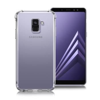 Xmart for Samsung Galaxy A8+ 2018版 清透高質感TPU+PC手機保護殼 - 白