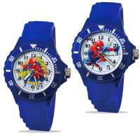 【迪士尼】中型運動彩帶轉圈兒童錶 - Spider-Man 蜘蛛人 正義藍色 (2款可選)