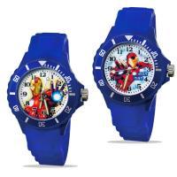 【迪士尼】中型運動彩帶轉圈兒童錶 - Iron Man 鋼鐵人 正義藍色 (2款可選)