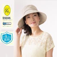 日本sunfamily  降溫涼感抗UV可塑型折邊寬緣防曬帽(米)