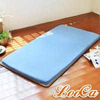 LooCa 吸濕排汗5cm透氣兩用輕便式床墊(單人)