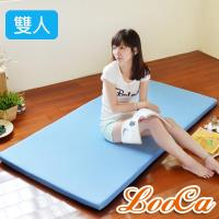 LooCa 美國抗菌5cm高磅透氣輕便式床墊(雙人)
