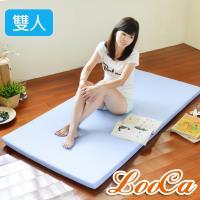 LooCa 高效防水5cm高磅透氣輕便式床墊(雙人)