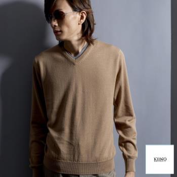 [KIINO]羊毛衣100%美麗諾V領上衣0602-1573