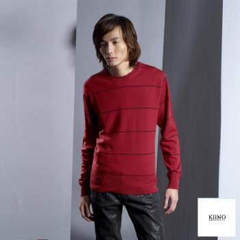 [KIINO]羊毛衣100%美麗諾細條紋上衣 0602-1584