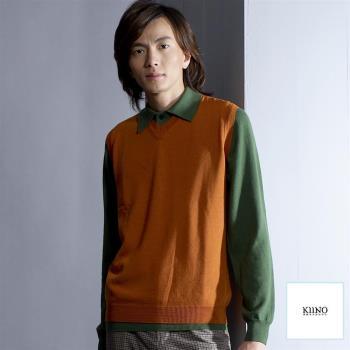 [KIINO]羊毛衣100%美麗諾背心0602-6576