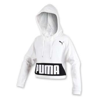 PUMA URBAN 女基本系列長厚連帽T恤-帽T 長T 保暖 白黑