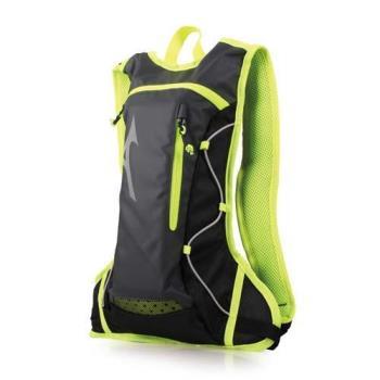MIZUNO 運動後背包-附1.5L水袋-雙肩包 旅行包 美津濃 黑螢光綠