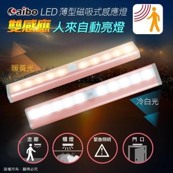aibo LI-06P 玫瑰金 智能LED磁吸式薄型迷你感應燈(電池式)