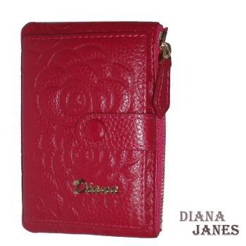 鑰匙包【Diana Janes 黛安娜】牛皮 玫瑰壓花鑰匙包