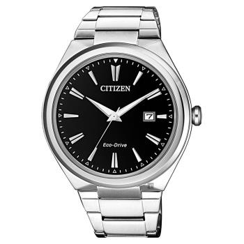 CITIZEN 星辰 光動能簡約手錶-黑x銀/41mm AW1370-51F