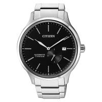 CITIZEN 星辰 爵士鈦金屬機械錶-黑x銀/42mm NJ0090-81E