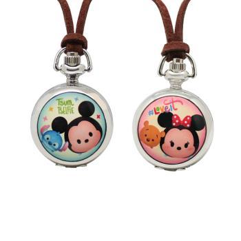 【迪士尼 Tsum Tsum】皮繩小懷錶 - 米奇與史迪奇、米妮與小熊維尼 (2款任選)