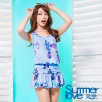 【夏之戀SUMMERLOVE】大女花漾三件式泳衣S17701