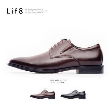 Life8-Formal 牛皮 簡約風格 雙色感德比皮鞋-咖色/黑色-09833