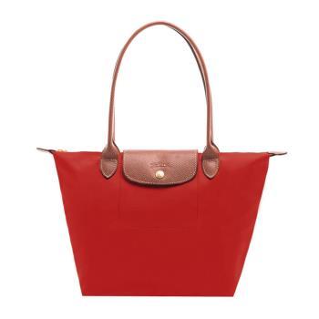 Longchamp 經典長提把防水尼龍 水餃包 肩背包-小 (紅)