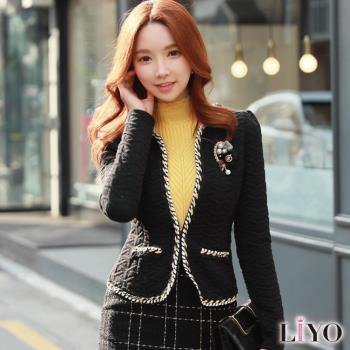 任-LIYO理優外套韓版小香風名媛公主袖短版小外套E748006