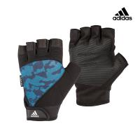 Adidas Training 防滑短指手套 (迷彩藍)