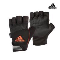 Adidas Training 防滑短指手套 (活力橙)
