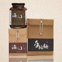海三小頂級XO小管醬200克1瓶+手路麵文創盒1盒(6入/每入70g)