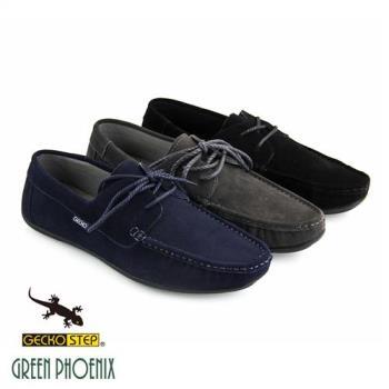 GECKO STEP【SNAIL蝸牛 姊妹品牌】仿麻繩綁帶牛麂皮平底休閒鞋(男鞋)T43-11702