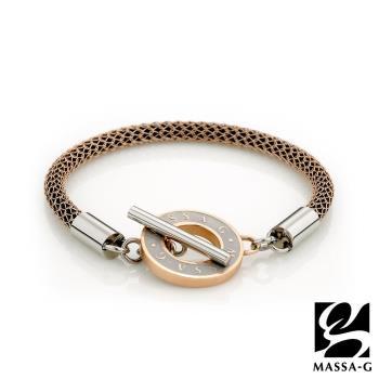 MASSA-G Titan 玫瑰魅力 4mm超合金鍺鈦手環