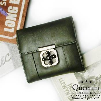 DF Queenin皮夾 - 短夾韓版仿皮款(零錢包可拆式)-共3色