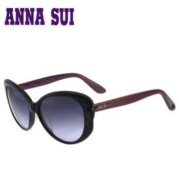 Anna Sui 日本安娜蘇經典名模時尚太陽眼鏡  黑+紫 - AS930E001